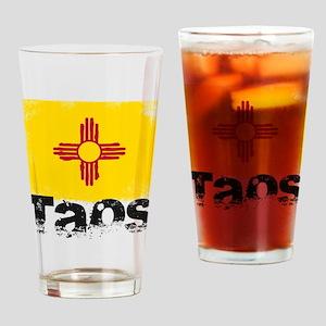 Taos Grunge Flag Drinking Glass