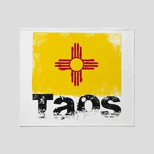 Taos Grunge Flag Throw Blanket