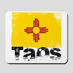 Taos Grunge Flag Mousepad