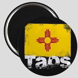 Taos Grunge Flag Magnet