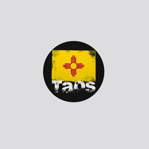 Taos Grunge Flag Mini Button