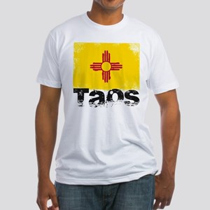 Taos Grunge Flag Fitted T-Shirt