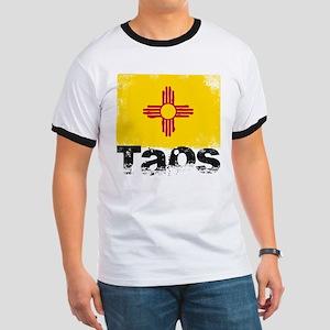 Taos Grunge Flag Ringer T