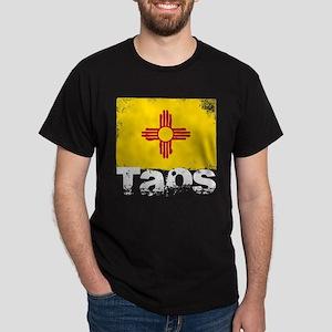 Taos Grunge Flag Dark T-Shirt