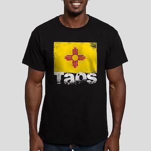 Taos Grunge Flag Men's Fitted T-Shirt (dark)