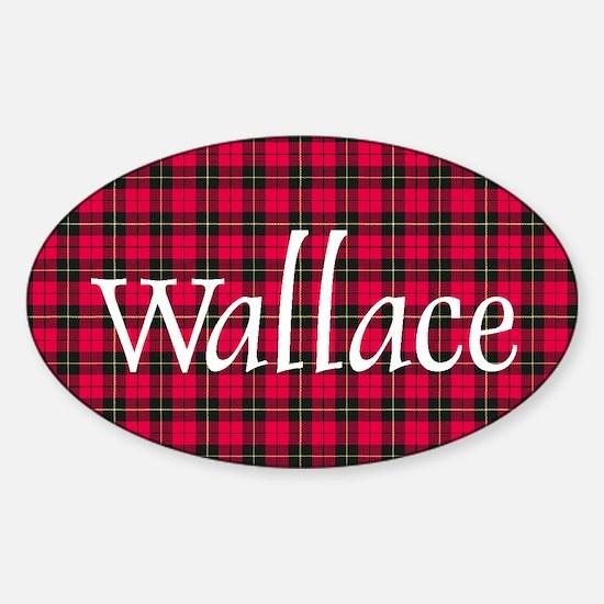 Tartan - Wallace Sticker (Oval)