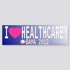 I Love Healthcare ACA Obamacare heart Bumper Stick