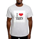 I Love Yarn Ash Grey T-Shirt