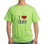 I Love Yarn Green T-Shirt