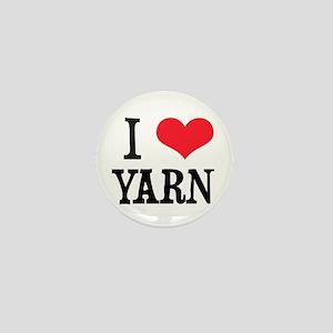 I Love Yarn Mini Button