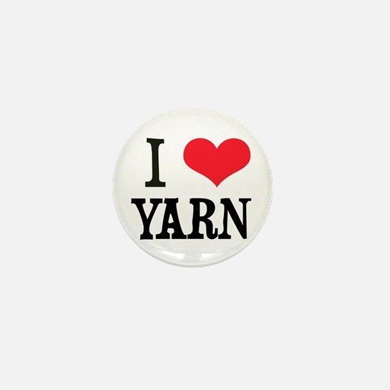 I Love Yarn Mini Button