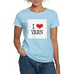 I Love Yarn Women's Pink T-Shirt