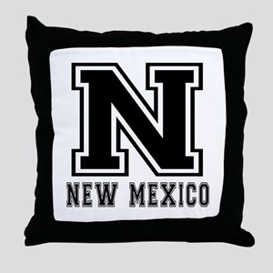 New Mexico State Designs Throw Pillow