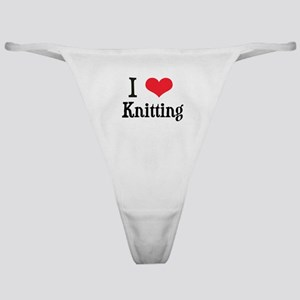 I Love Knitting Classic Thong