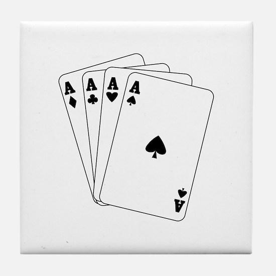 Aces Tile Coaster
