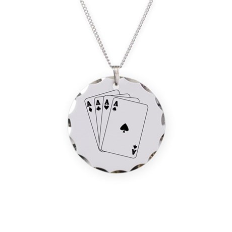 Aces Necklace Circle Charm