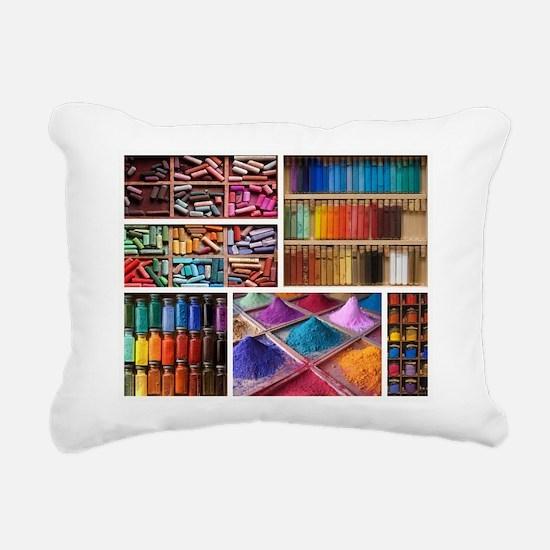 Boxful of Colors Rectangular Canvas Pillow