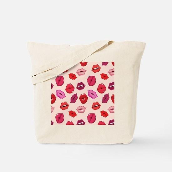 Kiss me Lips  Tote Bag