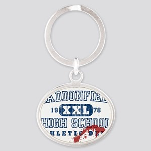 3-haddonfield_highschool Oval Keychain