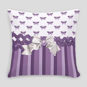 Purple Butterflies Everyday Pillow