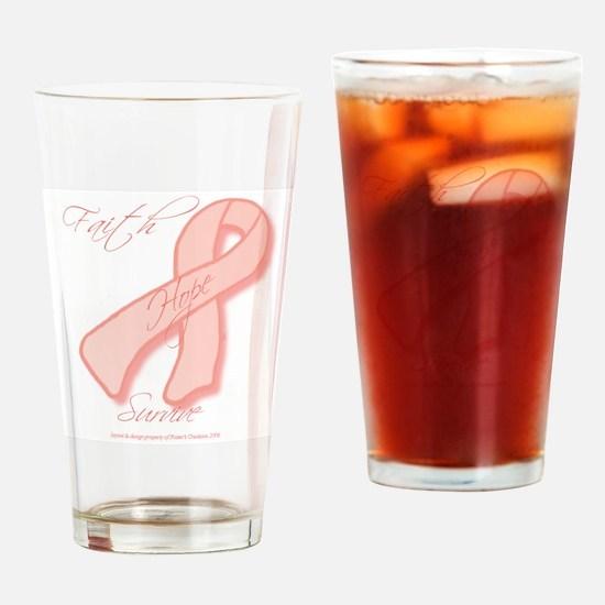 3x3_peachribbonbear Drinking Glass