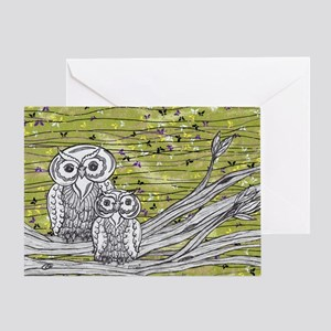 Owls 3 Greeting Card