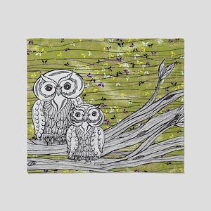 Owls 3 Throw Blanket