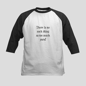 Too Much Yarn Kids Baseball Jersey