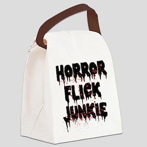 Horror Flick Junkie Canvas Lunch Bag