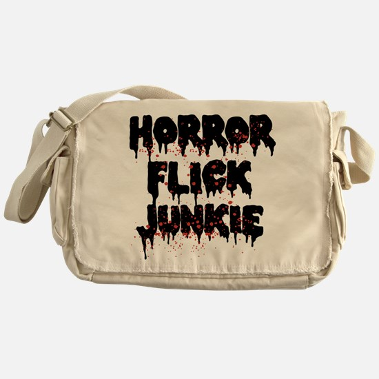 Horror Flick Junkie Messenger Bag