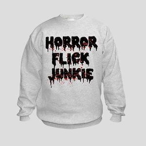 Horror Flick Junkie Kids Sweatshirt