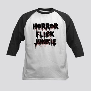Horror Flick Junkie Kids Baseball Tee