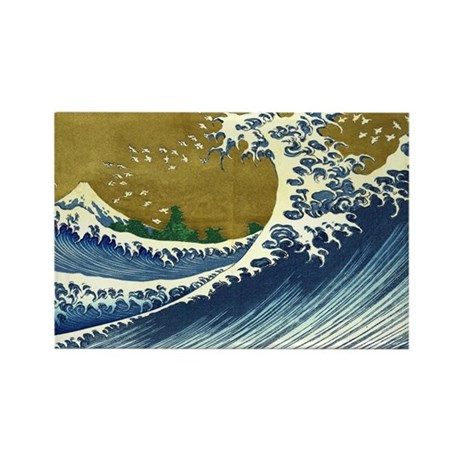 The Great Wave Rectangle Magnet