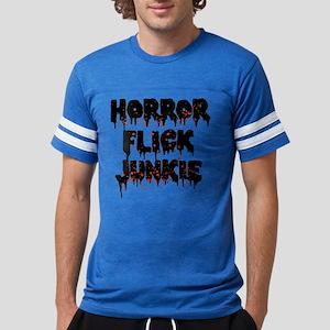 Horror Flick Junkie Mens Football Shirt