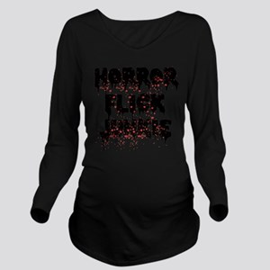 Horror Flick Junkie Long Sleeve Maternity T-Shirt