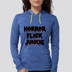 Horror Flick Junkie Womens Hooded Shirt