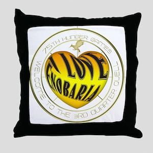 I Love Enobaria Heart Throw Pillow