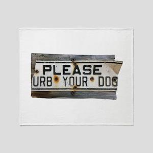 Please `urb Throw Blanket