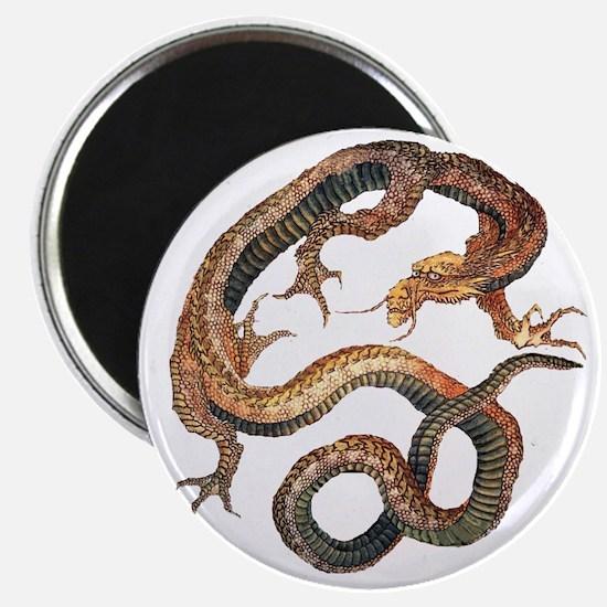 Japanese Dragon by Hokusai Magnet