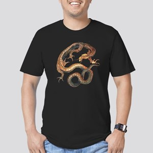 Japanese Dragon by Hok Men's Fitted T-Shirt (dark)