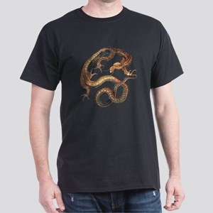 Japanese Dragon by Hokusai Dark T-Shirt