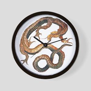 Japanese Dragon by Hokusai Wall Clock