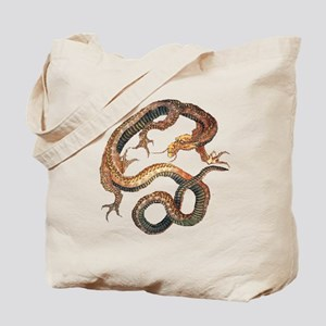Japanese Dragon by Hokusai Tote Bag