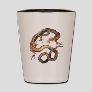 Japanese Dragon by Hokusai Shot Glass