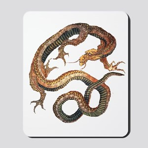 Japanese Dragon by Hokusai Mousepad