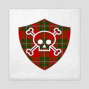 Mac Gregor Tartan Skull And Bones Shield Queen Duv