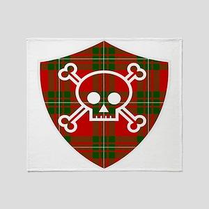 Mac Gregor Tartan Skull And Bones Shield Throw Bla
