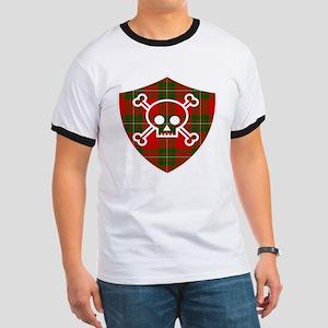 Mac Gregor Tartan Skull And Bones Shield T-Shirt