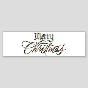 Christmas Plaid Merry Christmas Sticker (Bumper)