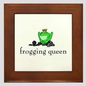 Yarn - Frogging Queen Framed Tile